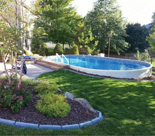 Oval Metric Pool