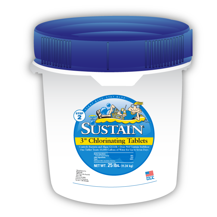 sustain 3″ Chlorine Tablets – 25 lb Pail