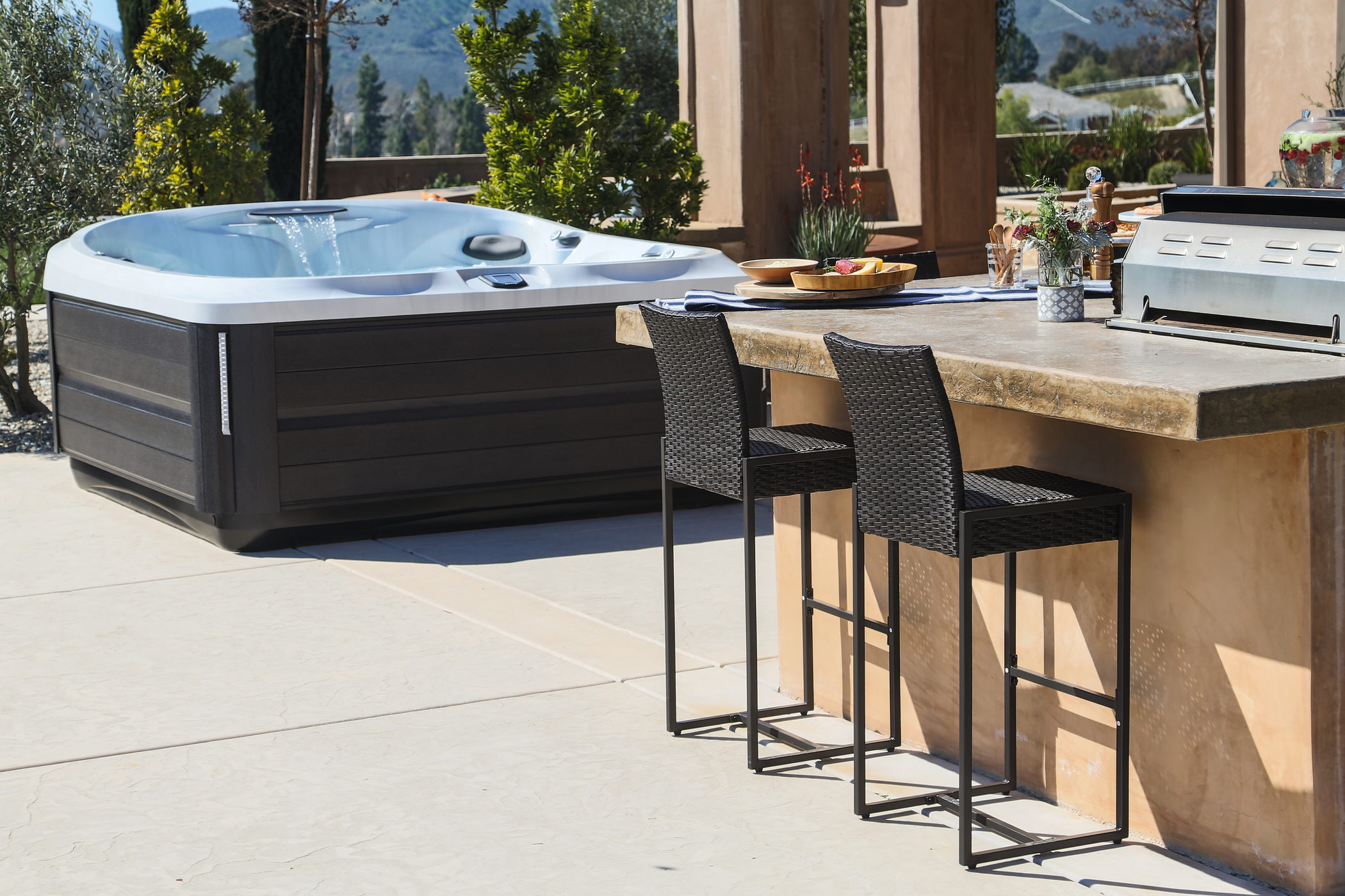 Jacuzzi Hot Tub on a patio