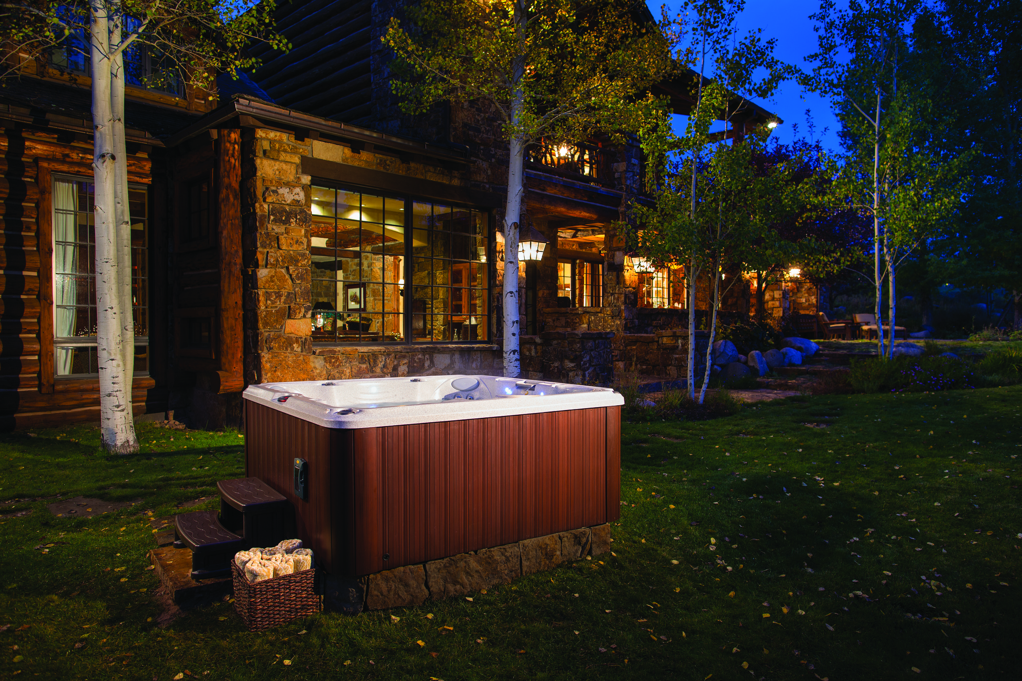 Jacuzzi Hot Tub in the fall