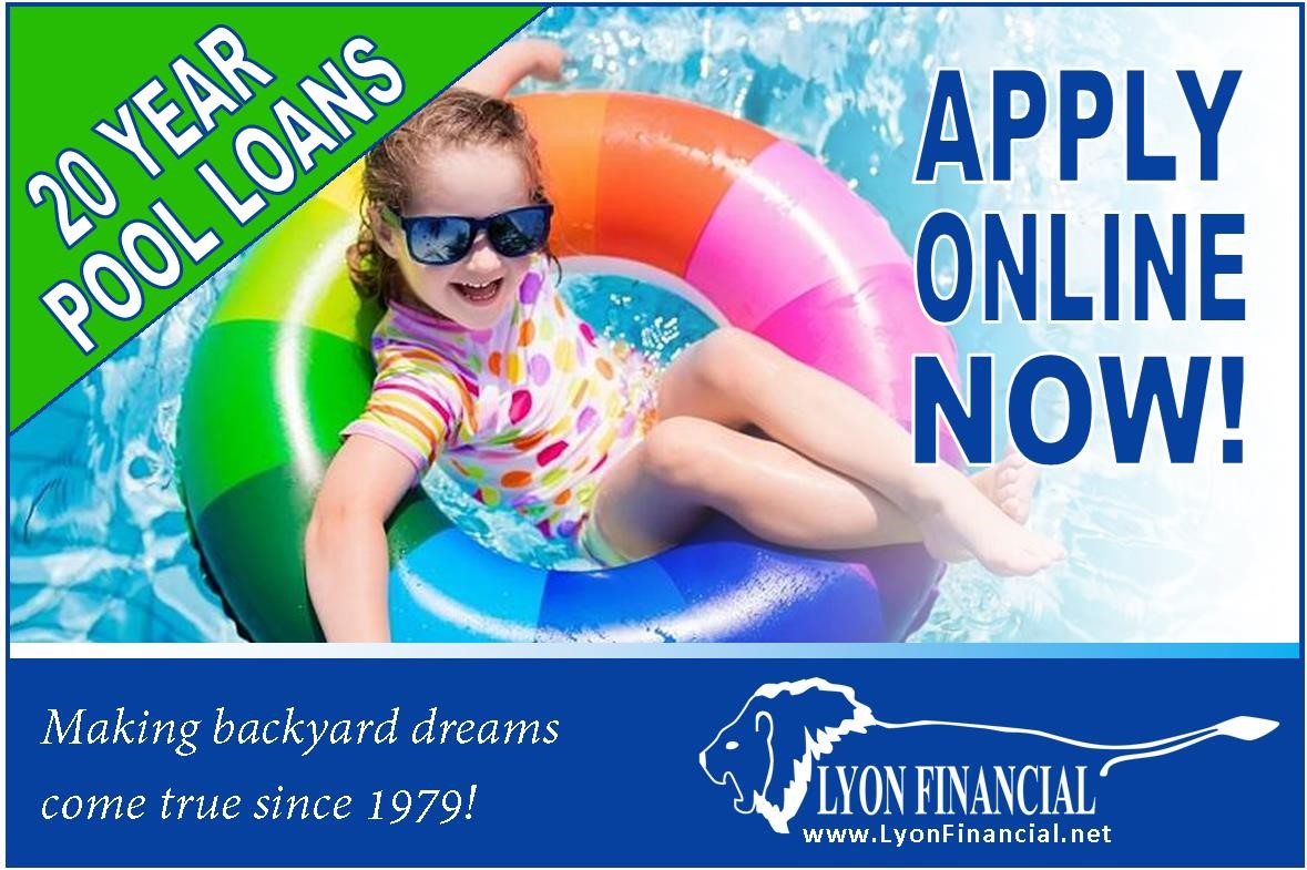 Finance a pool from Van Dorn Pools and Spas